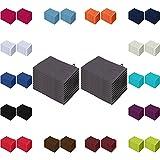 Waschlappen 20er Pack Sparpreis in vielen Farben 15x21 cm 100% Baumwolle Anthrazit