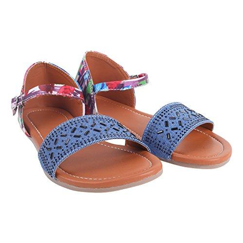 High Brands Comfortable and Stylish Sandals For Women's & Girl's | OL-1 (38, LighBlue)