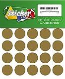 120 Klebepunkte, 30 mm, gold, aus PVC Folie, wetterfest, Markierungspunkte Kreise Punkte Aufkleber