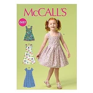 McCall's Patterns 6878 Patrons de robes pour petite fille Multicolore Tailles 6 à 8 ans