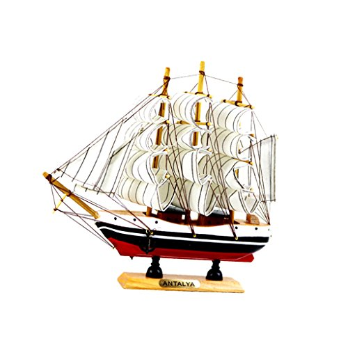 Sharplace Nautische Schiffsmodell Piratenschiff Schiff Modell für Tischdeko oder Kindegarten - Weiß (Piratenschiff Holz-modell-bausatz)
