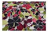 Fabrics-City % BUNT HOCHELASTISCH LYCRA STOFF BADEANZUGSTOFF BLUMEN STOFFE, 4147