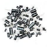 Tinksky 125pcs 25 valori totale condensatori elettrolitici assortimento Kit impostato 1uF 2200uF