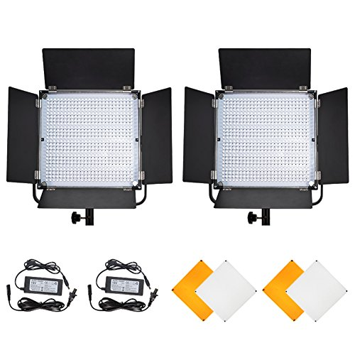 Pixel K80 Light Kit Video LED 2 Pack PIXEL Fotografia LED Studio di illuminazione dierabile 600 lampadine Illuminazione Stand Kit 3200K o 5600K CRI
