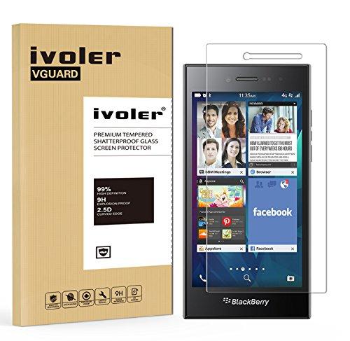 iVoler Panzerglas Schutzfolie für BlackBerry Leap [9H Härte] [Anti- Kratzer] [Bläschenfrei] [2.5D R&e Kante]