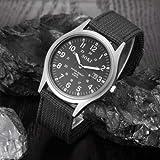SOKI Reloj de pulsera de hombre de Deporte militar del ejercito de cuarzo Esfera Calendario Relojes Aleacion Negro