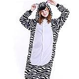 IFLIFE Kigurumi Pijamas Unisexo Adulto Traje Disfraz Adulto Animal Pyjamas M(para Altura:159-168cm), Cebra
