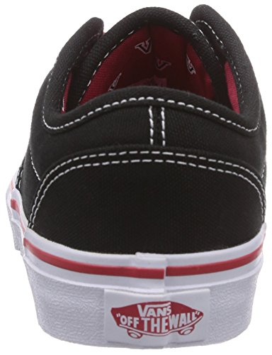 Vans Y Atwood, Baskets mode mixte enfant Noir (Varsity/Black/Red)