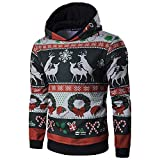 Innerternet Men Women Coat Christmas Winter Long Sleeve Hooded Pullover Outwear Tops Blouse