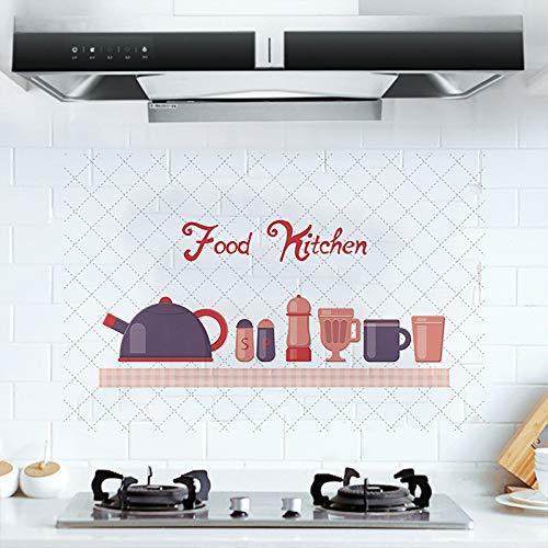 Lebensmittel Küche Selbstklebende Wandaufkleber Pvc Home Decor Removablet Wasserdichte Und Öldichte Aufkleber auf dem Kabinett