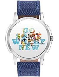 Travel Watch - BigOwl Go Some Where New Airplane World Map Design Leather Strap Casual Wrist Watch For Men - Perfect...