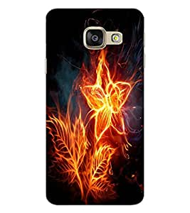 ColourCraft Flaming Flower Design Back Case Cover for SAMSUNG GALAXY A9 (2016)