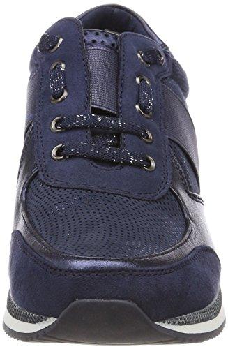 Marco Tozzi 23711, Scarpe da Ginnastica Basse Donna Blu (Navy Comb)