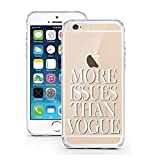 iPhone 7 Hülle von licaso® für das Apple iPhone 7 aus TPU Silikon More Issues than Vogue Fashion Style Muster ultra-dünn schützt Dein iPhone 7 & ist stylisch Case Design Schutzhülle Bumper Geschenk (iPhone 7, More Issues than Vogue)