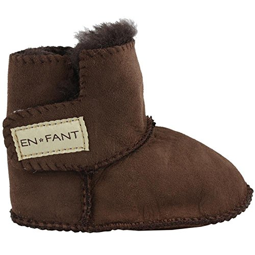 EnFant 811840U-03 Sheepskin Bootie, Winter Lauflernschuhe, unisex, Braun, Gr. L (Booties Schaffell)