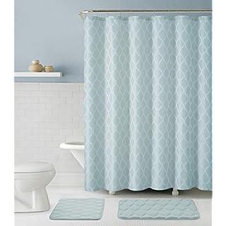 Luxury Home MGP-BTH-15PC-IN-BL 15 Piece Mercer Bath Set, Blue