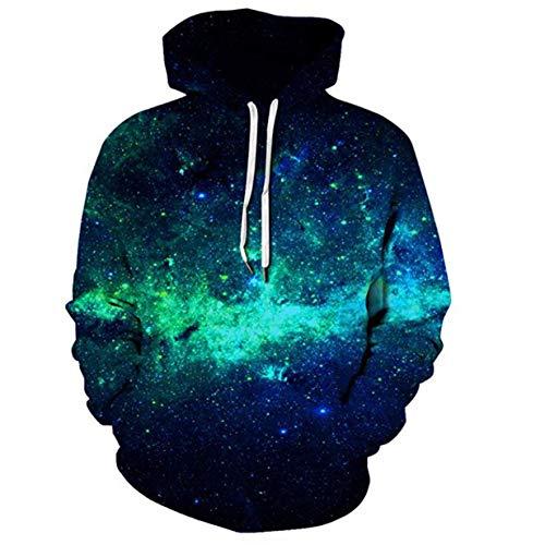 G2FN Unisex 3D Druck Hoodies Kapuzenpullover Langarm Galaxy Bunte Pullover Kapuzenpulli Sweatshirt Kapuzenjacke,B,M