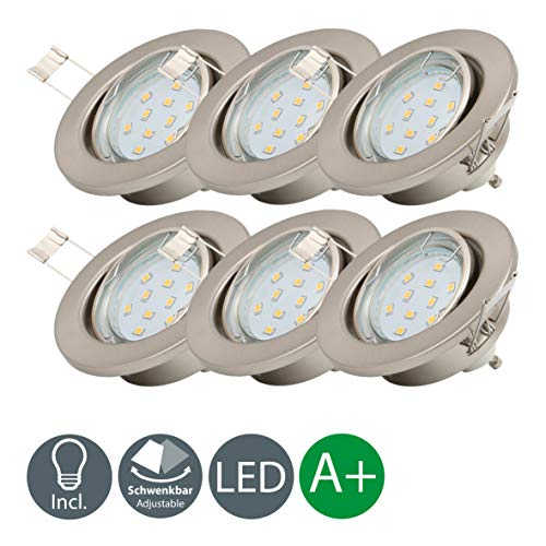 Lámpara LED de techo I Ø 86 mm I Foco LED empotrable...