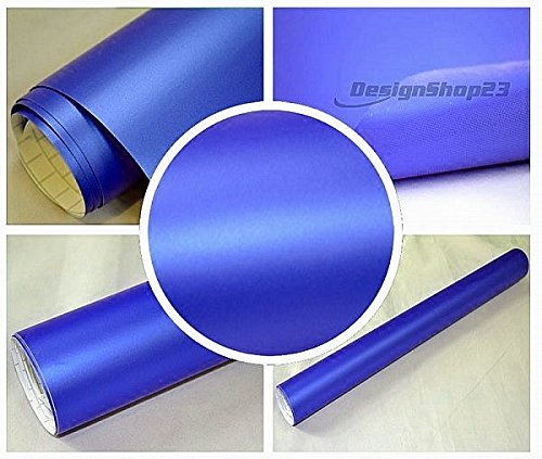 4,5€/m² Auto Folie - BLAU METALLIC MATT - 200 x 152 cm BLASENFREI selbstklebend flexibel Car Wrapping - Metallic Matt