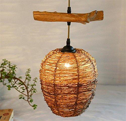 Bambus Wandleuchte Natürlichen (LUCKY CLOVER-A Rattan / Bambus Vintage Retro Kronleuchter Handmade Kreative Dekor Pendelleuchten)