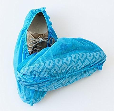 Bleu à chaussures Hommes Premium jetables de coffre et Couvre-chaussures | durable résistant à l'eau Taille unique | 100-Pack Love It ou C'est 100% gratuit garanti par Bleu Chaussures Hommes