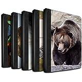 Stuff4 Coque/Housse de Livre Cuir PU Case pour Apple iPad 9.7 (2017) tablette / Multipack (20 Pck) Design / Animaux sauvages Collection