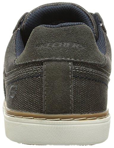 Skechers Lanson Mesten, Chaussures Bateau Homme Gris (Char)