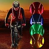 Iluminación LED reflectante chaleco de seguridad cinturón para running senderismo, ciclismo, Snowboarding, correr, senderismo, verde