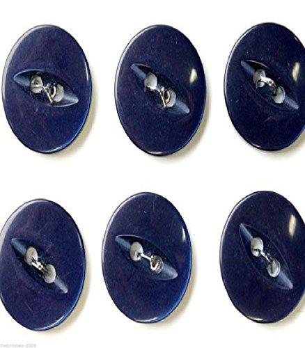 Marineblau Runde Fish Eye Knöpfe Gr. 22(14mm) X 25Für 1,40£ (Neuheit Knöpfe Nähen)