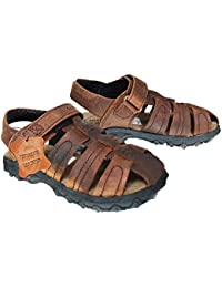 53b0aa650b3 Xelay Boys Leather Brown Fisherman Sports Summer Sandals Size Toddlers Child  UK 7 8 9