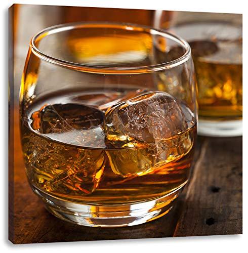Pixxprint Oro Giallo Whiskey 70x70 cm Stampa su Tela Decorazione