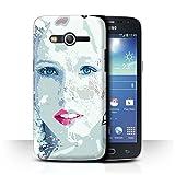 Stuff4 Coque de Coque pour Samsung Galaxy Core 4G/G386W / Visage Givré Design/Fragments Collection