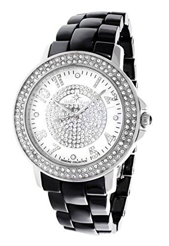 Stella Maris STM13G410 - Reloj de cuarzo con correa de cerámica para mujer, color blanco