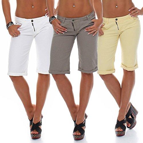 Sublevel shorts femmes Bermude Court de l'été Pantalon de sport Chino 1375 Blanc