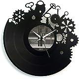 Orologio Work in vinile idea regalo colore nero originale Vinyluse