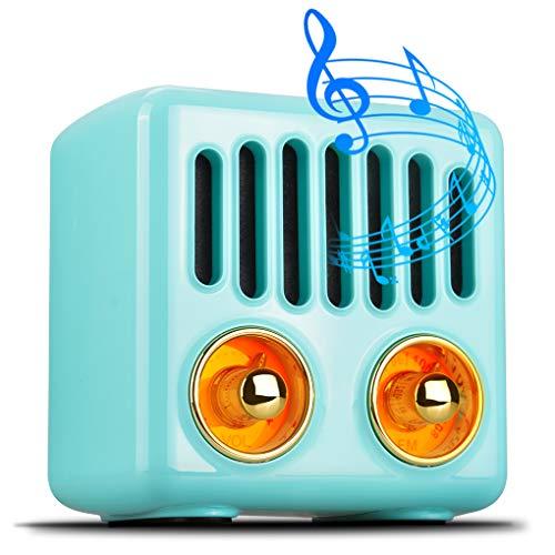 Tragbare Bluetooth-Lautsprecher Olycism Bluetooth 4.2 Mini Lautsprecher mit UKW Radio und intensiver Bass MP3 fähige Musikbox Bis zu 6 Stunden kabellos Digitalradio genießen Blau