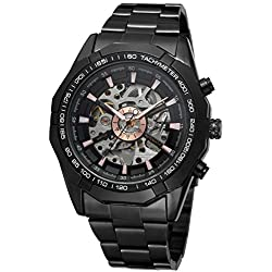 Forsining Mens Automatic Dress Analog Stainless Steel Bracelet Round Watch FSG8042M4B1