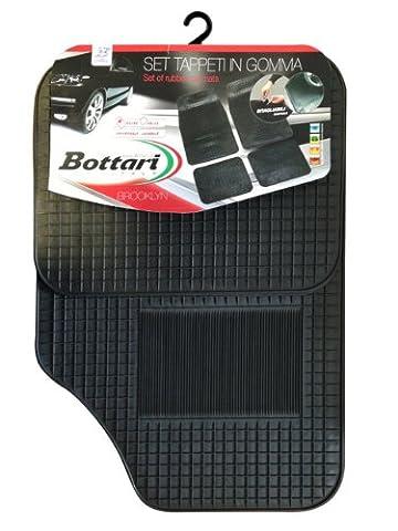 Bottari 14058 Bottari 14058 Brooklyn: 4 tapis de sol pour voiture en caoutchouc noir - Taille universelle