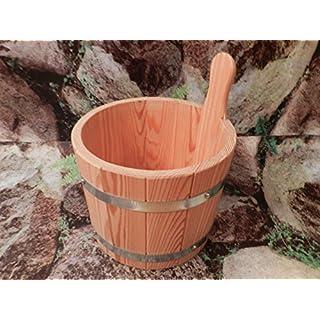 Sauna Aufgusskübel aus PEFC zertifizierten Lärchenholz 5Liter