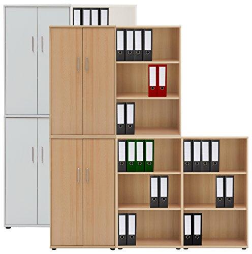 VCM 5-tlg Aktenregal Set Büro Schrank Regal Büroschrank Aktenschrank Sideboard Omegos 888