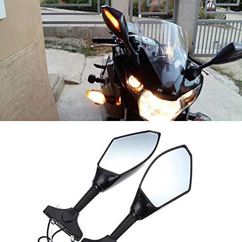 Baedivg Motorrad Rückspiegel LED Blinker für Hyosung GT125R GT250R GT650R, für Kawasaki Z750S, für Ninja 250R 650R - Clip Ninja Kawasaki