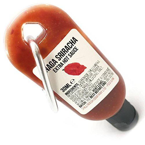 Mini Naga Sriracha Hot Sauce Chili Schlüsselbund...