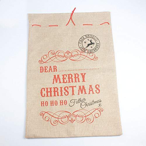 juler Weihnachtsdekoration Weihnachtsmann Sackleinen Geschenktüte Kreative Dekoration Tasche,Gelb,Einheitsgröße