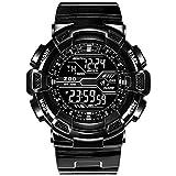 Big Zifferblatt Sport Jugend Junior Student Digital Uhr Mann Prüfung Elektronische Uhr mit Wecker,Black