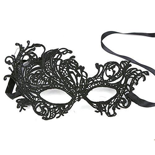 Maskerade,Halloween Kostüm Tanzparty Party Anzieh Maske sexy Königin Cosplay halbe Gesicht einäugig durchbrochen Spitze Maske DT19 Masquerade