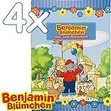 Kiddnix 4 quaderni da colorare e da colorare * Benjamin Fiori * con 12 Pagine in DIN A6 – Perfetto Come Regalo o Come Libro da colorare per Bambini Elefante Törööö