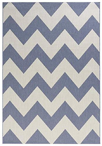 bougari In- und Outdoor Teppich Unique Blau, 80x150 cm - Blauer Teppich Outdoor Teppiche