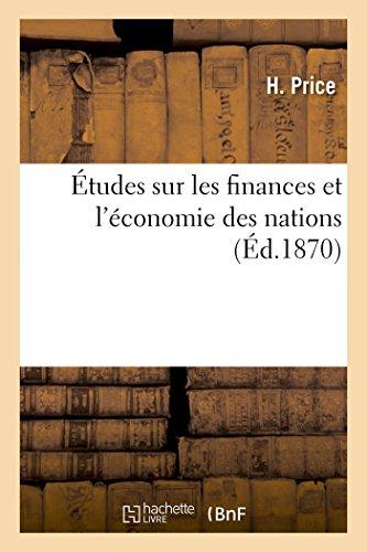 Études sur les finances et l'économie des nations