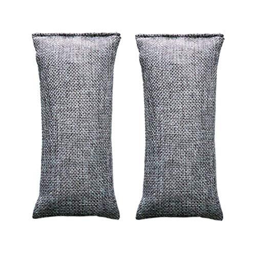xiaoyamyi Fabulous 1 Teile Bambus Dunkelgrau Tasche Smelly Entfernen Aktivkohle Schränke Schuh Deo Desodorieren Trockenmittel Absorbierung Luft Reinigend für Heim Dekoration - Gray-100g