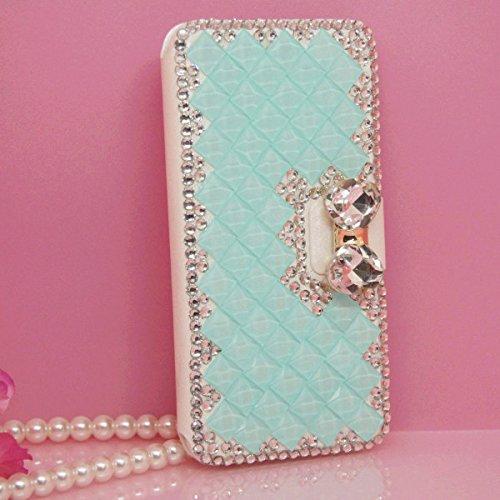 iPhone 6Plus/6S Plus Fall, Handwerk von jabit Luxus Bling Strass Wallet Schutzhülle Ultrathin magnetischem Ständer Kristall Leder Book Cover Schutzhülle Schutzhülle 4Farben, Blau